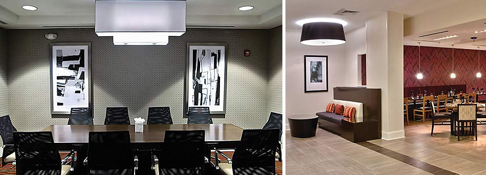 Synergy custom lighting solutions illuminating hotels motels resorts office and retail spaces